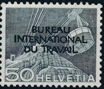 Switzerland 1950 Landscapes and Technology Official Stamps for The International Labor Bureau i.jpg