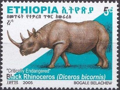 Ethiopia 2005 Black Rhinoceros