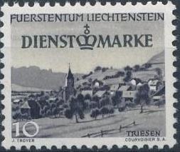 Liechtenstein 1947 Stamps of 1944-1945 overprinted - Official Stamps b.jpg