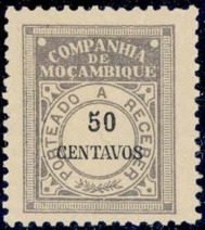 Mozambique Company 1916 Postage Due Stamps j.jpg