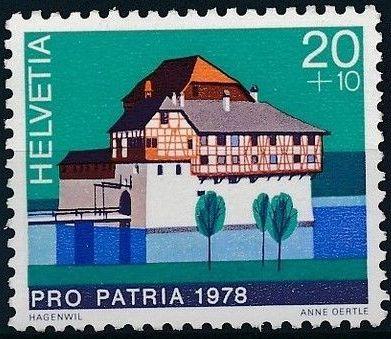 Switzerland 1978 PRO PATRIA - Castles