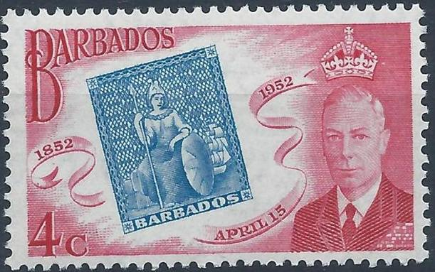 Barbados 1952 Centenary of Barbados Postage Stamps b.jpg