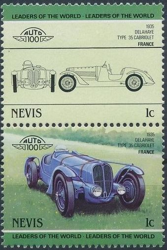 Nevis 1985 Leaders of the World - Auto 100 (3rd Group)