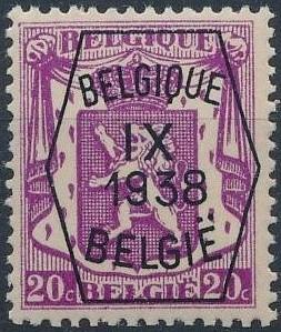 Belgium 1938 Coat of Arms - Precancel (9th Group) b.jpg