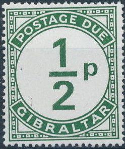 Gibraltar 1971 Postage Due Stamps