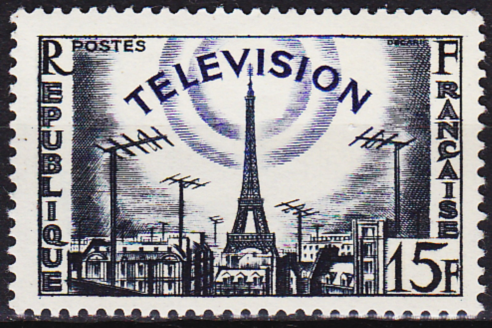 France 1955 French Advancement in Television.