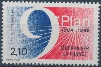 France 1984 9th 5-Year Plan - Modernising France