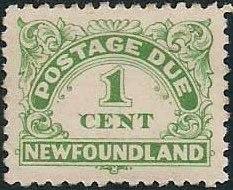 Newfoundland 1939 Postage Due Stamps