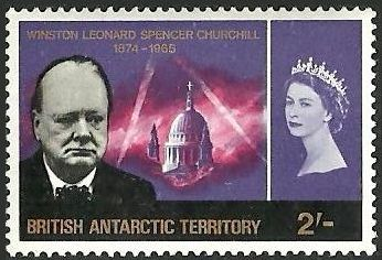 British Antarctic Territory 1966 Churchill Memorial d.jpg