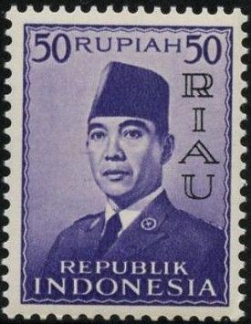 Indonesia-Riau 1960 President Sukarno - Definitives i.jpg