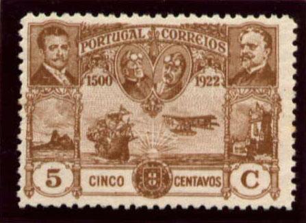 Portugal 1923 First flight Lisbon Brazil e.jpg