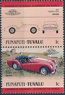 Tuvalu-Funafuti 1984 Leaders of the World - Auto 100 (1st Group)