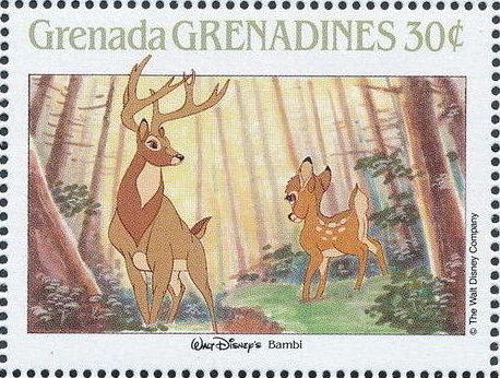 Grenada Grenadines 1988 The Disney Animal Stories in Postage Stamps 1f.jpg