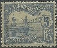 New Caledonia 1906 Men Poling (Postage due Stamps)