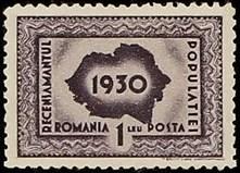 Romania 1930 First Census in Romania