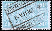 Belgium 1941 Railway Stamps (Numeral in Rectangle IV) u.jpg