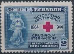 Ecuador 1944 80th Anniversary of the International Red Cross - Air Post Stamps