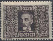 Austria 1922 Air Post Stamps (Common Kestrel and Wilhelm Kress) 1st Group d.jpg