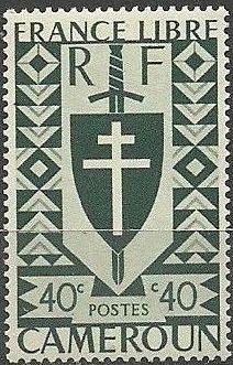 Cameroon 1941 Lorraine Cross and Joan of Arc Shield e.jpg