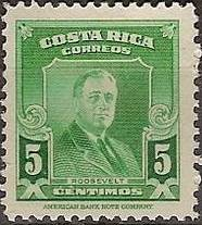 Costa Rica 1947 Franklin D. Roosevelt - Regular Stamps a.jpg