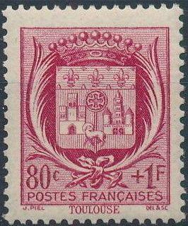 France 1941 Coat of Arms (Semi-Postal Stamps) e.jpg