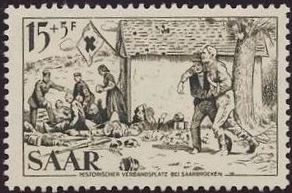 Saar 1965 Surtax for the Red Cross