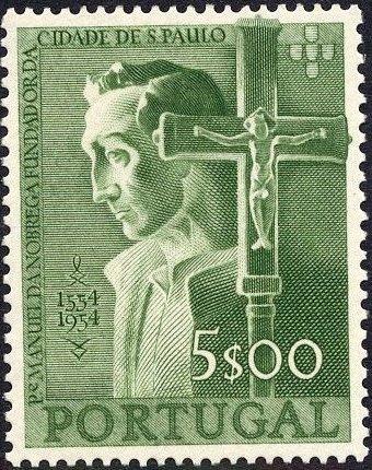 Portugal 1954 400th Anniversary of Founding of Sao Paulo, Brazil d.jpg