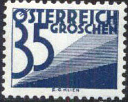 Austria 1930 Postage Due Stamps (Digit and Triangles) 4th Issue