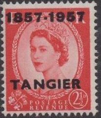 British Offices in Tangier 1957 Centenary Overprint (1857-1957) e.jpg