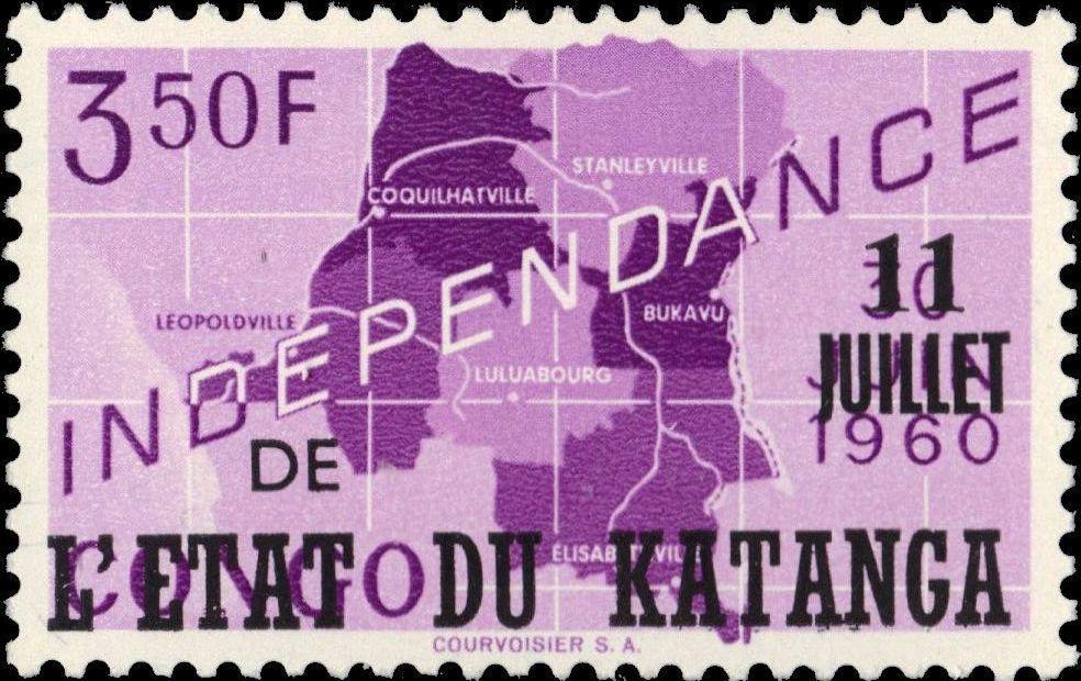 Katanga 1960 Postage Stamps from Congo Overprinted f.jpg