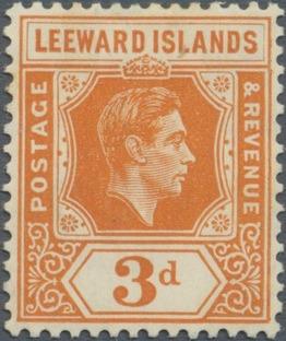 Leeward Islands 1942 King George VI