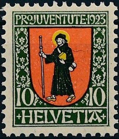 Switzerland 1923 PRO JUVENTUTE - Coat of Arms b.jpg