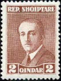 Albania 1925 President Ahmed Zogu b.jpg