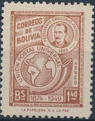 Bolivia 1950 75th Anniversary of the UPU c.jpg