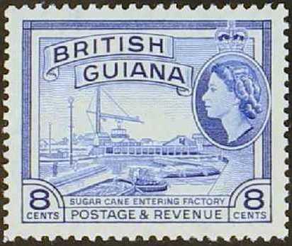 British Guiana 1954 Elizabeth II and Local Scenes g.jpg