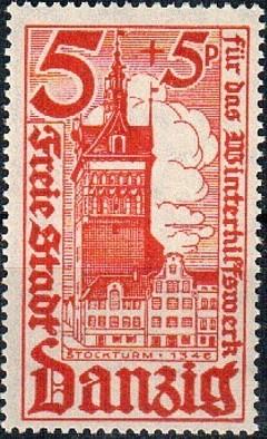 Danzig 1935 Surtax for Winter Welfare - City Buildings