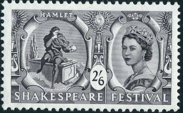 Great Britain 1964 400th Anniversary of the Birth of William Shakespeare e.jpg