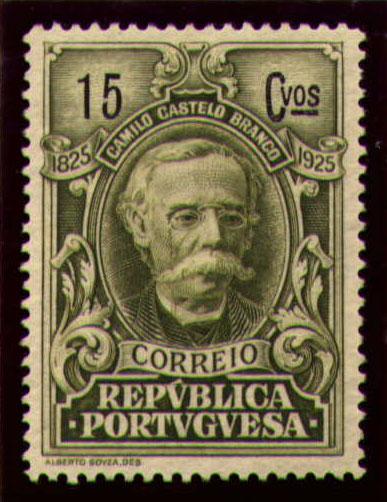 Portugal 1925 Birth Centenary of Camilo Castelo Branco h.jpg