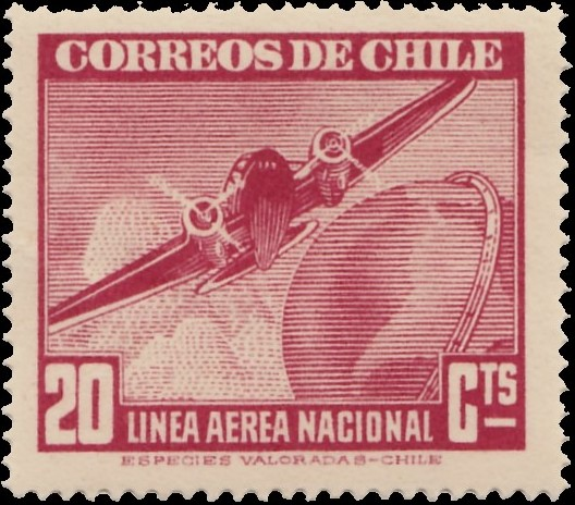 Chile 1941 Air Post Stamps (Type 1941) b.jpg