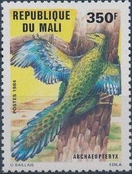 Mali 1984 Prehistoric Animals f.jpg