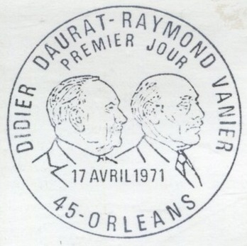 France 1971 Didier Daurat and Raymond Vanier Aviation Pioneers PM Orleans.jpg