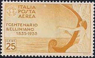 Italy 1935 3rd Centenary of the Death of Vincenzo Bellini - Air Post Stamps a.jpg
