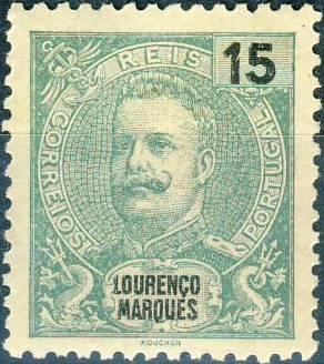 Lourenço Marques 1903 D. Carlos I New Values and Colors