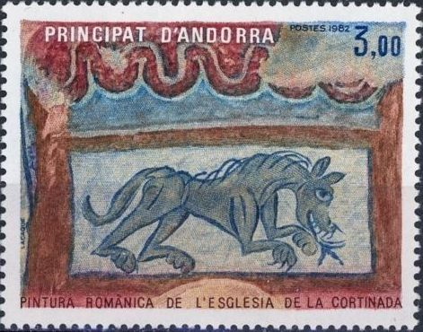 Andorra-French 1982 Roman Painting
