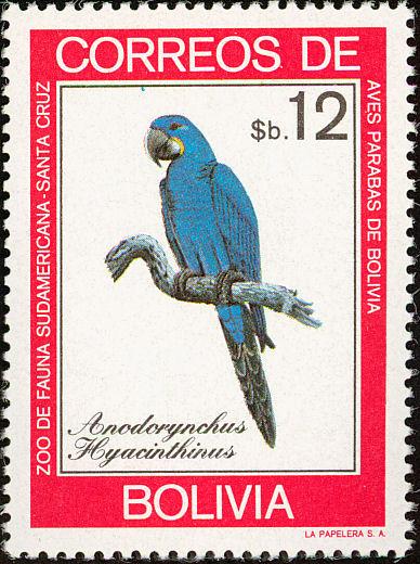 Bolivia 1981 Macaws f.jpg