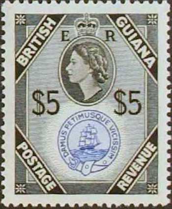 British Guiana 1954 Elizabeth II and Local Scenes o.jpg