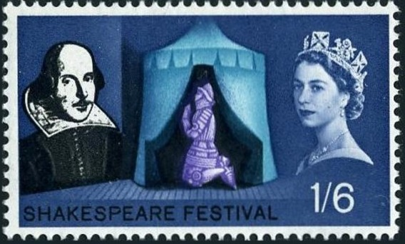 Great Britain 1964 400th Anniversary of the Birth of William Shakespeare d.jpg