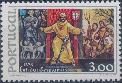 Portugal 1976 600th Anniversary of the Sesmarias Law