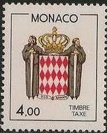 Monaco 1986 National Coat of Arms - Postage Due Stamps (2nd Group) d.jpg