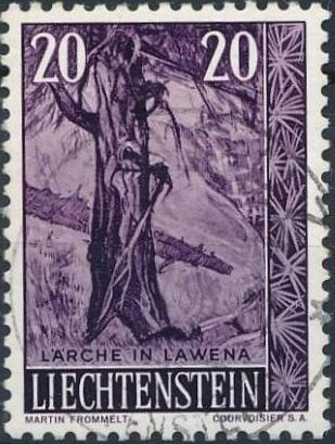 Liechtenstein 1959 Native Trees and Shrubs (3rd Group)